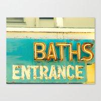 Baths Canvas Print