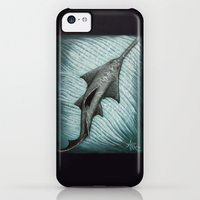 iPhone 5c Cases featuring Sawfish - Acrylic Painting by Amber Marine