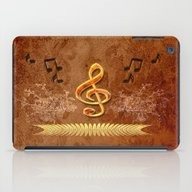 iPad Case featuring Music, Clef by Nicky2342