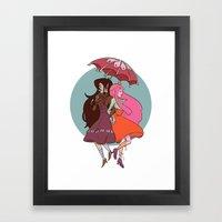 Marcy & PB Framed Art Print