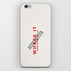 Whack it - Zombie Survival Tools iPhone & iPod Skin