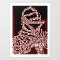 Red Knight Art Print