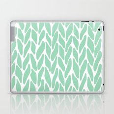 Hand Knitted Mint Laptop & iPad Skin