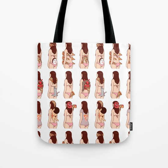 Girl & Pizza Tote Bag