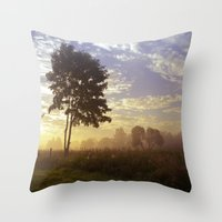One summer day (wide) Throw Pillow