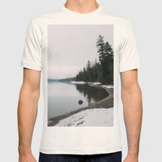 SNOWY MORNING Mens Fitted Tee Natural SMALL