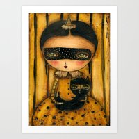 The Halloween Witch And The Black Cat Art Print