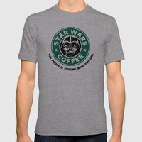 Star Wars Coffee Mens Fitted Tee Athletic Grey SMALL