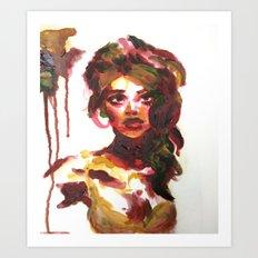 Mat Board Lady (2) Art Print