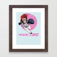 Moon Girl Punch-Out Framed Art Print