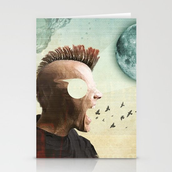 luna mohawk  Stationery Card