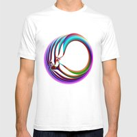 Framed In Circles Mens Fitted Tee White SMALL