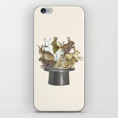 Rabbits in the hat iPhone & iPod Skin