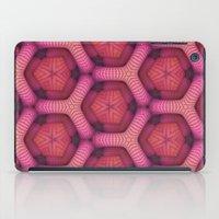 Pink Honeycomb (Abstract) iPad Case
