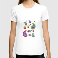 Paisleys - Plain Background Womens Fitted Tee White SMALL
