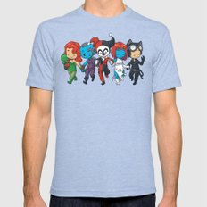 Villainous BFFs Mens Fitted Tee Tri-Blue SMALL