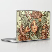 elephants Laptop & iPad Skins featuring Elephants by Heather Hitchman