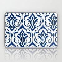 Ikat Damask Navy Laptop & iPad Skin