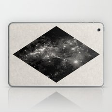 Space Diamond - Abstract, geometric space scene in black and white Laptop & iPad Skin