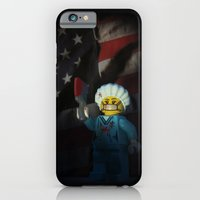iPhone & iPod Case featuring American Psycho in LEGO by Sarah Churchill