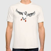 Atlantic Puffins gold Mens Fitted Tee Natural SMALL