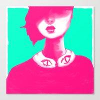 Contemporary Collar Canvas Print