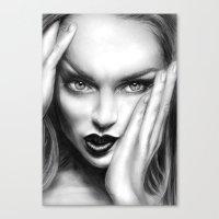 + MEAN GIRL + Canvas Print