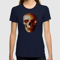 Exploiting Digital Behavior (P/D3 Glitch Collage Studies) Womens Fitted Tee Navy SMALL