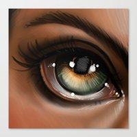 Hazel Eye Illustration Canvas Print