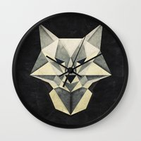 Wandering Wolf Wall Clock