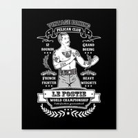 Vintage Boxing - Black E… Canvas Print