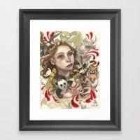 Animal Hugs Framed Art Print