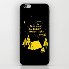 I Just Want To Sleep Under The Stars iPhone & iPod Skin