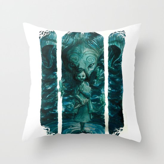 Ofelia y el Fauno Throw Pillow