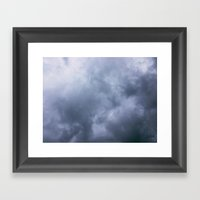 Moody Clouds Framed Art Print
