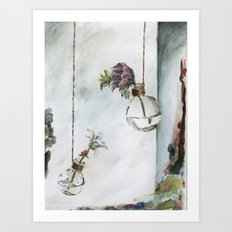 Intimacy (Oak Leaf Geranium, Saxifrage)   Art Print