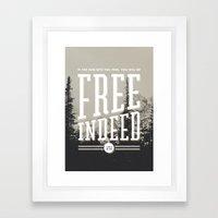 Free Indeed - Photo Framed Art Print