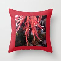 Throw Pillow featuring Japanese Maple by Rogue Crafter