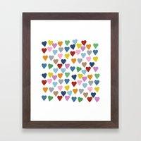 Hearts #3 Framed Art Print