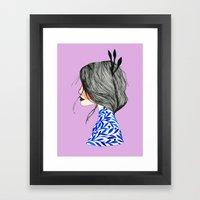 Miss June Framed Art Print