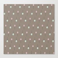 Balloons On Taupe Canvas Print
