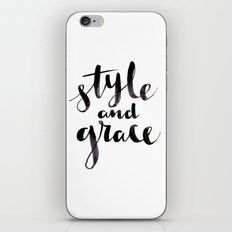Style and Grace iPhone & iPod Skin