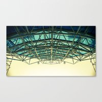 Grid Canopy Canvas Print