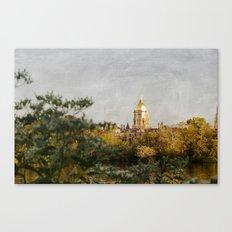 Notre Dame Across the Lake Canvas Print