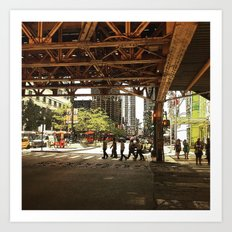 Under The El At State & … Art Print