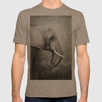 The Old Elephant Mens Fitted Tee Tri-Coffee SMALL