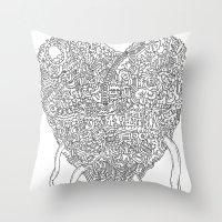 Doodle Heart Throw Pillow