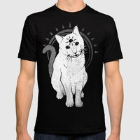 psychic Kitty 2  Mens Fitted Tee Black SMALL