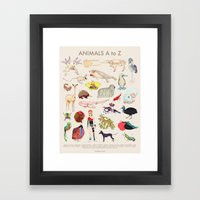 Bizarro Animals - A To Z… Framed Art Print