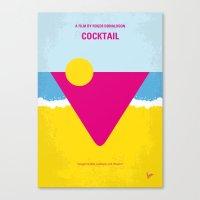 No603 My Cocktail minimal movie poster Canvas Print